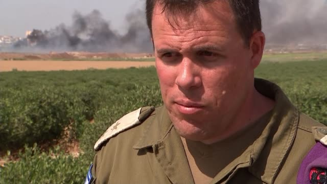Funeral of prominent Palestinian journalist ISRAEL EXT Lt Col Jonathan Conricus interview SOT