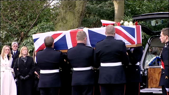 funeral of royal marine danny winter killed in afghanistan; funeral of royal marine danny winter killed in afghanistan; england: cheshire: stockport:... - royal marines stock videos & royalty-free footage