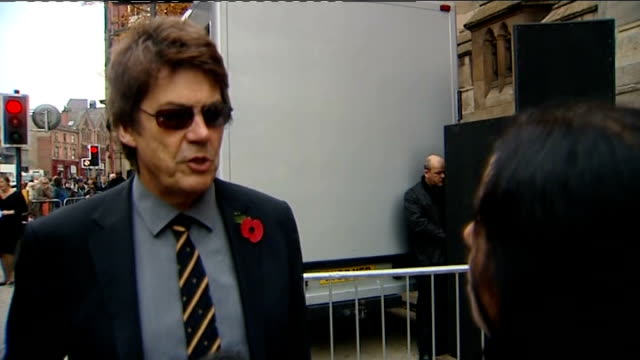 funeral of sir jimmy savile mike read interview sot he was the first mobile disc jockey vox pops - radio jockey stock videos & royalty-free footage