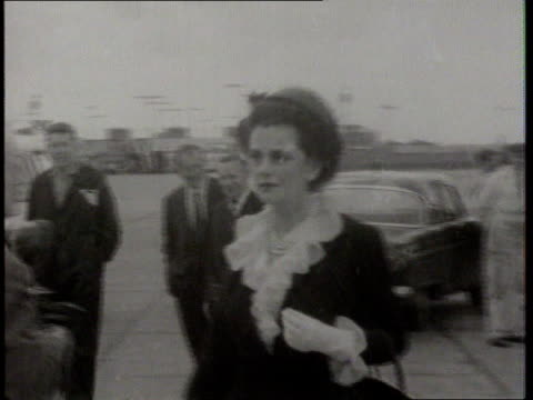 Funeral of the Duchess of Argyle 1960's SEQ Duchess of Argyle along at airport MS Duchess into car