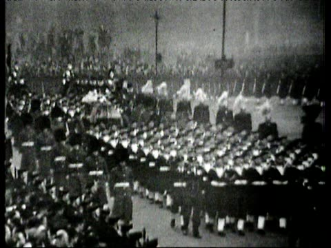 funeral procession of king george vi uk 15 feb 1952 - funeral procession stock videos & royalty-free footage