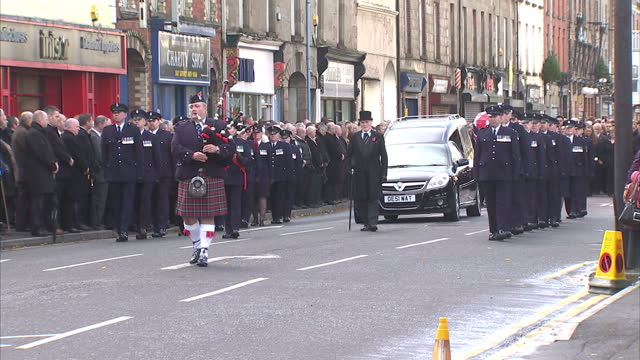 funeral service has been held in county armagh for a prison officer killed during an ambush on his car last thursday. david black was shot dead -... - county armagh stock videos & royalty-free footage