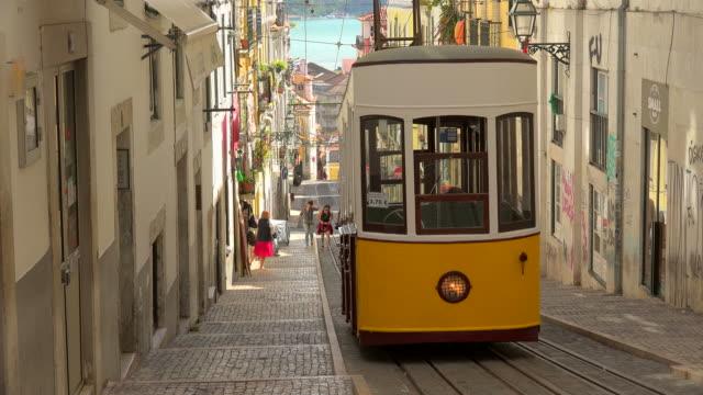 Funicular on Rua Da Bica, Bairro Alto, Lisbon, Portugal