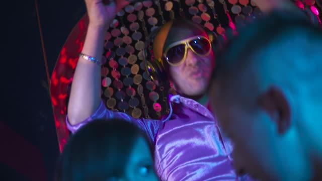 hd: funky dj playing music - dance music stock videos & royalty-free footage