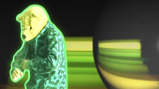 funky teddy hd - fancy dress costume stock videos & royalty-free footage