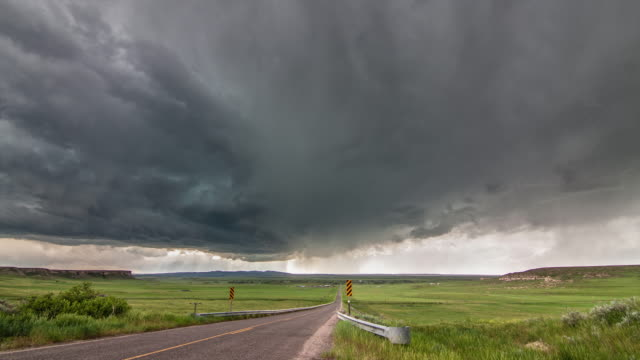 Funnel cloud beneath supercell timelapse