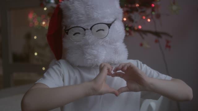 Funny Christmas Santa in eyeglasses