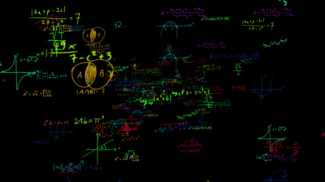 funny colorful maths symbols zoom out loopable full hd - physics stock videos & royalty-free footage