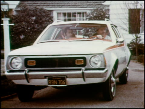funny commercial introducing amc's subcompact, the gremlin. a succession of drivers jumps into the driver's seat for a test drive after... - 1970 stock videos & royalty-free footage