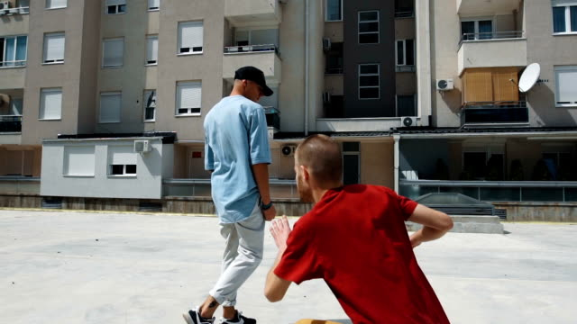 funny dancers performing break dance - funky stock videos and b-roll footage
