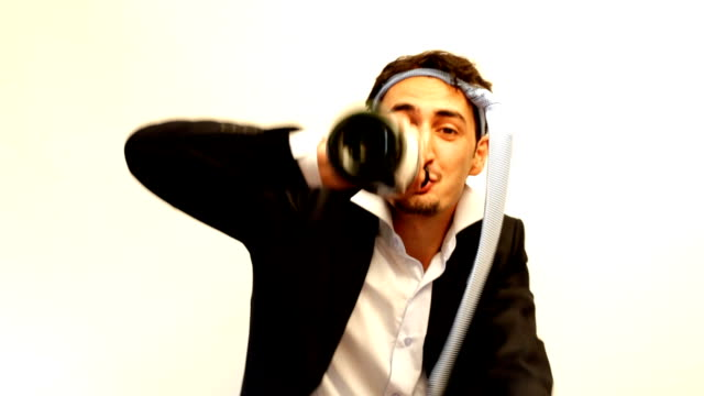 funny, drunk businessman - necktie stock videos & royalty-free footage