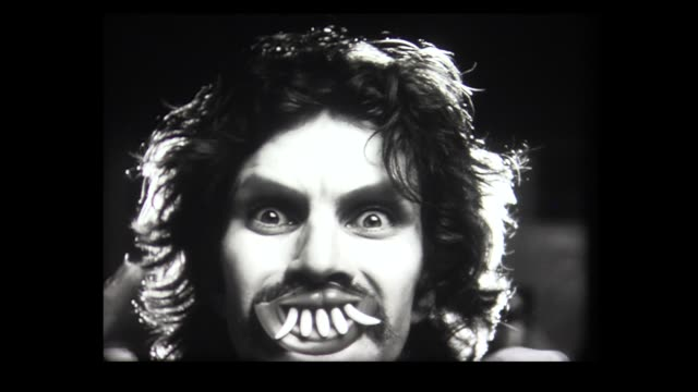 1974 funny faces with plastic teeth - satire stock videos & royalty-free footage