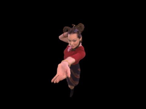 funny girl dancing - this clip has an embedded alpha-channel - keyable stock videos & royalty-free footage