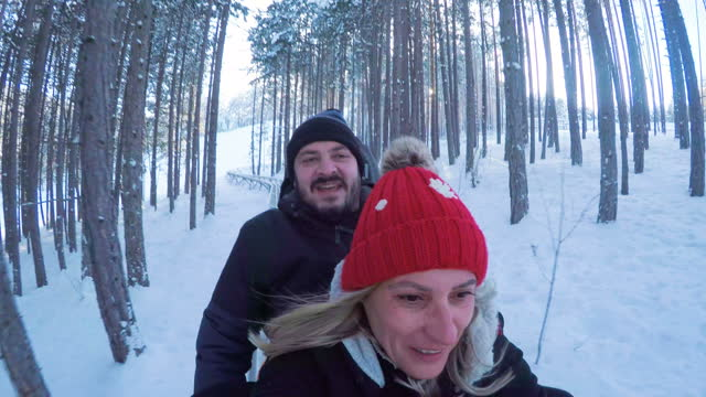 funny mature couple on bobsledding-for fun and adventure it is never too late - bobsledding stock videos & royalty-free footage