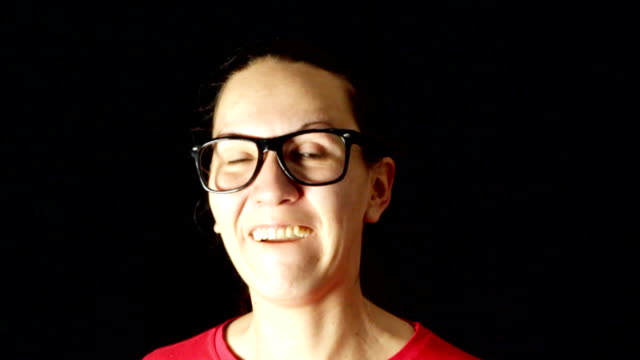 funny nerd woman talking - oblivious stock videos & royalty-free footage