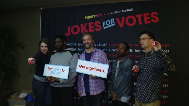 chyron funny or die and nextgen climate's jokes for votes tour closing show at usc with judd apatow and more at radisson midtown at usc on october 23... - {{relatedsearchurl('capsule pipeline')}} stock videos and b-roll footage