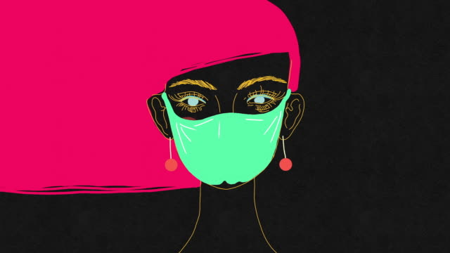 funny pandemic - human face drawing stock videos & royalty-free footage