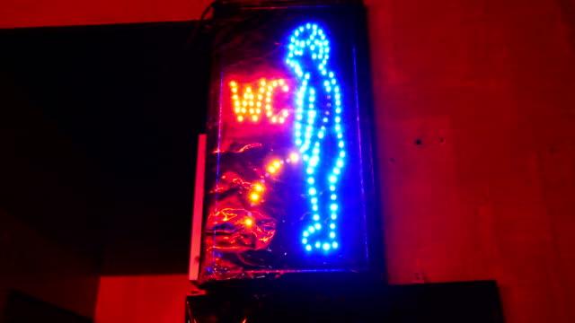 Lustige WC neon