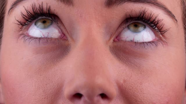 funny woman's look - rolling eyes stock videos & royalty-free footage