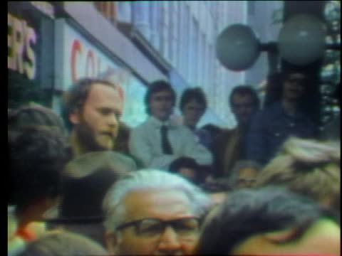 furious heckler screams at canadian prime minister pierre trudeau. - (war or terrorism or election or government or illness or news event or speech or politics or politician or conflict or military or extreme weather or business or economy) and not usa stock videos & royalty-free footage