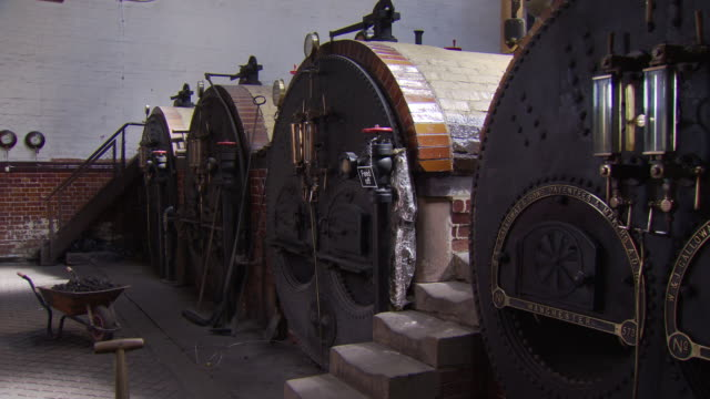 furnaces at papplewick pumping station - pumping station stock videos & royalty-free footage