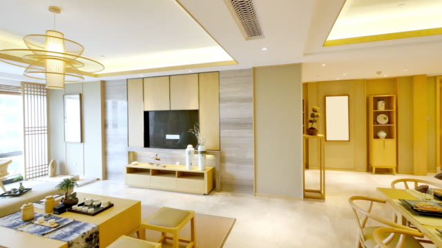 furniture and design of modern dining room - tidy stock videos & royalty-free footage