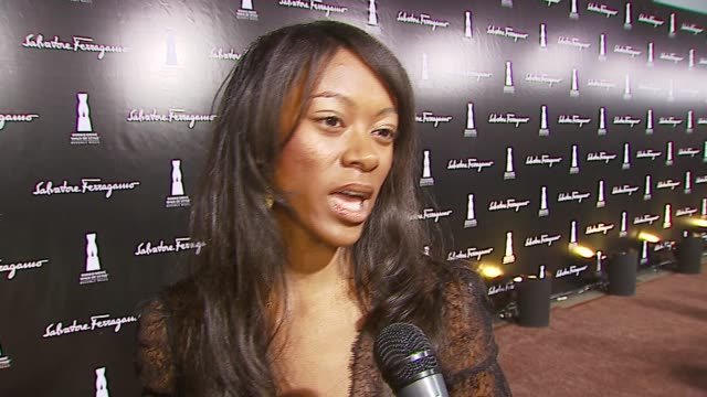 furonda of 'america's next top model' on her outfit, her feelings about ferragamo, and what she looks for in a shoe at the rodeo drive 'walk of... - salvatore ferragamo stock videos & royalty-free footage