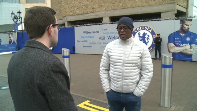 further allegations of racism against chelsea fans england london fulham stamford bridge ext paul canoville interview sot cutaway twoshot with... - itv london tonight weekend点の映像素材/bロール
