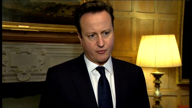 further details emerge of terrorist attack on gas facility and deaths of foreign nationals england london int david cameron mp interview sot... - itv weekend lunchtime news点の映像素材/bロール