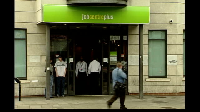 further pressure on peter hain over illegal immigrants ext general views of job centre unidentified person searched with hand held metal detector... - zoll und einwanderungskontrolle stock-videos und b-roll-filmmaterial