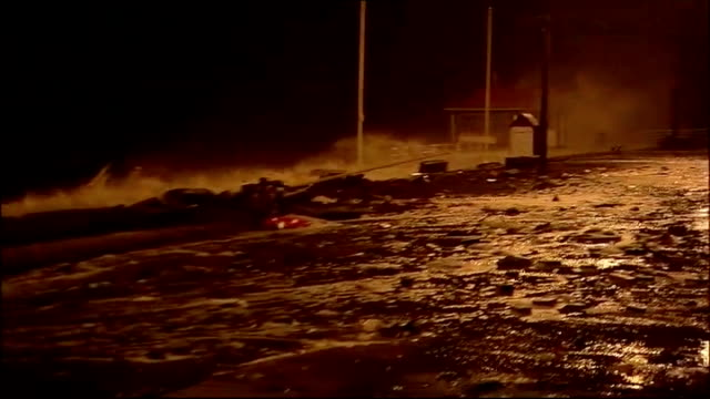 further storms and floods along west coast of uk devon ext general view of search team gathered to look for missing teenager harry martin police... - aberystwyth stock videos & royalty-free footage