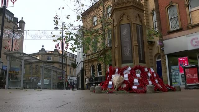 further tributes paid following death of paddy ashdown england somerset yeovil ext various shots remembrance day poppy wreath laid by paddy ashdown... - remembrance day stock videos and b-roll footage