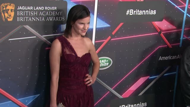 fuschia sumner at 2015 jaguar land rover british academy britannia awards presented by american airlines in los angeles ca - land rover stock videos and b-roll footage
