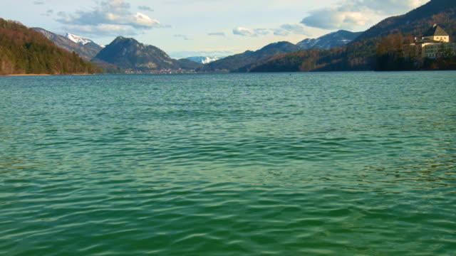 fuschlsee, salzkammergut, austria - salzkammergut stock videos and b-roll footage