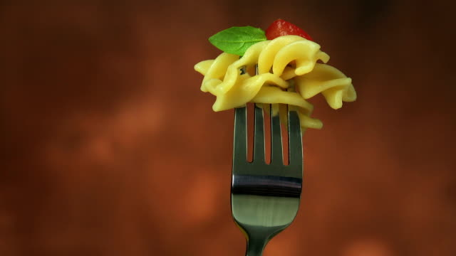 fusilli pasta - italian food stock videos and b-roll footage