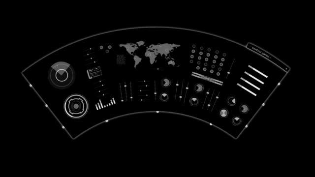 künftige schnittstelle - militärisches ziel stock-videos und b-roll-filmmaterial