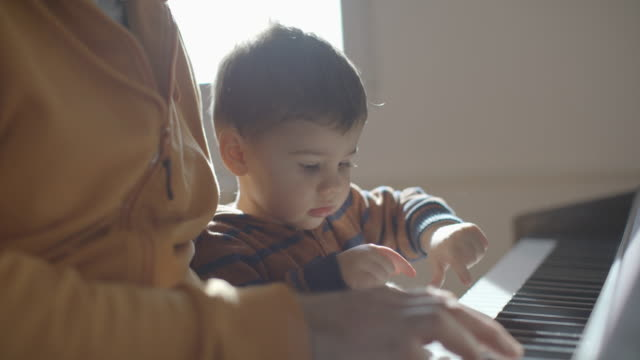future little pianist - baby boys stock videos & royalty-free footage