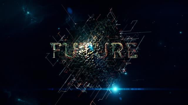 vídeos de stock, filmes e b-roll de futura matriz cubo - solução