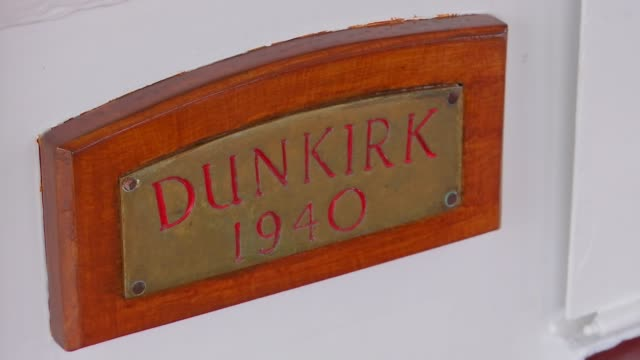 future of dunkirk boats threatened by health and safety rules uk london richmond various shots of dunkirk flotilla boat princess freda danny collier... - anchored stock videos & royalty-free footage