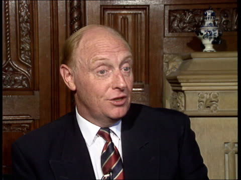future of the communist party is now in doubt; england: london: westminster: house of commons: int cms neil kinnock mp intvwd sof. - mikhail... - boris yeltsin stock videos & royalty-free footage