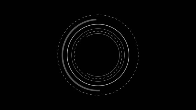 vídeos de stock e filmes b-roll de future radar screen. hud circles, loopable. - ecrã tátil