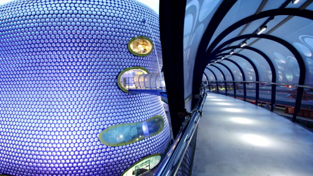 futurisitc tunnel, birmingham, uk - birmingham england stock videos & royalty-free footage