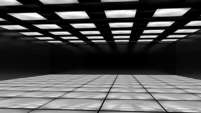 futuristische 3d-zimmer - kamerafahrt auf schienen stock-videos und b-roll-filmmaterial