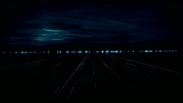 未来的な抽象的な道路の背景。技術。ストックビデオ - digital animation点の映像素材/bロール