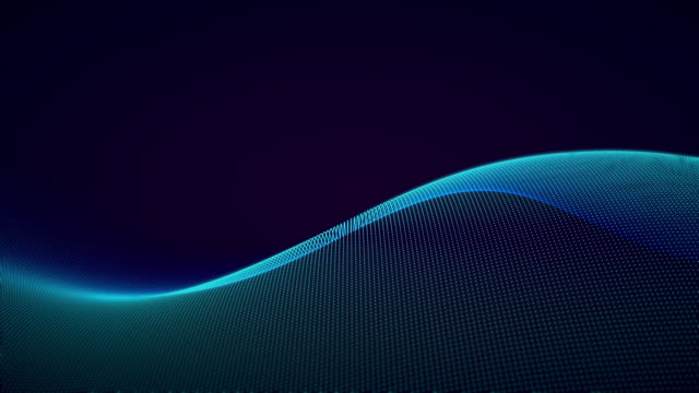 vídeos de stock e filmes b-roll de futuristic abstract wave pattern backgrounds - desenho de ondas