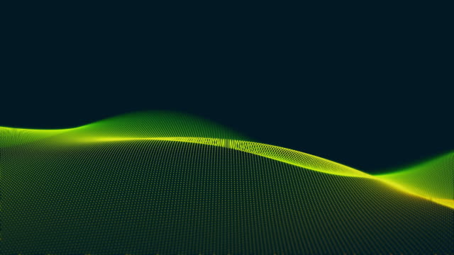 futuristic abstract wave pattern on black backgrounds - curve stock videos & royalty-free footage
