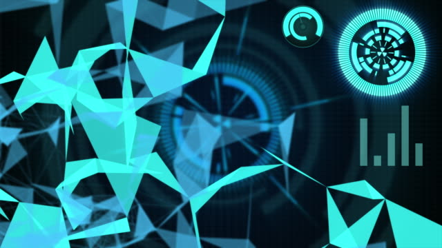 futuristic and technology concept,blue background