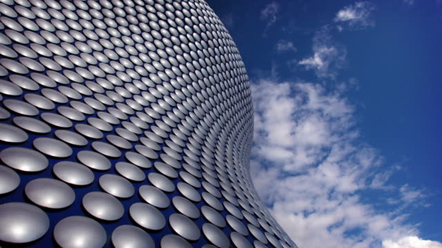 futuristic architecture timelapse - birmingham england stock videos & royalty-free footage
