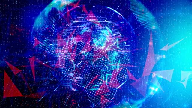 stockvideo's en b-roll-footage met futuristische simulatie van kunstmatige intelligentie - hersenhelft