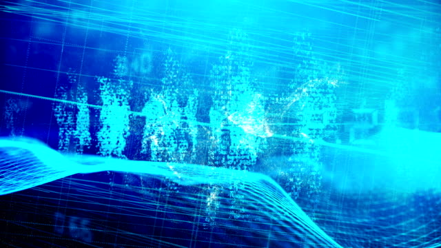 futuristic artificial intelligence simulation - cerebral cortex stock videos & royalty-free footage